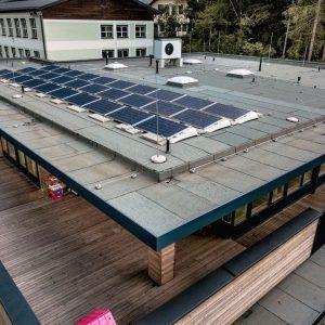 Kindergarten Flachdach Photovoltaik essl-dach (2)